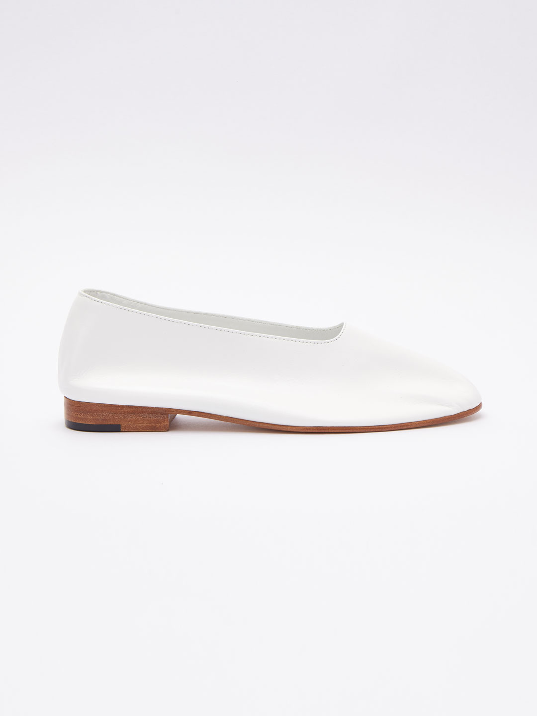 Glove Flat Shoes - White