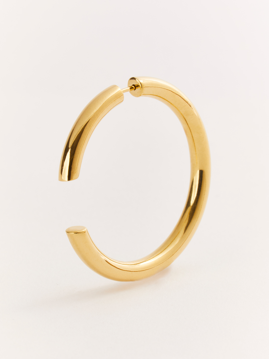 Disrupted 40 Pierced Earring - Gold High Polish