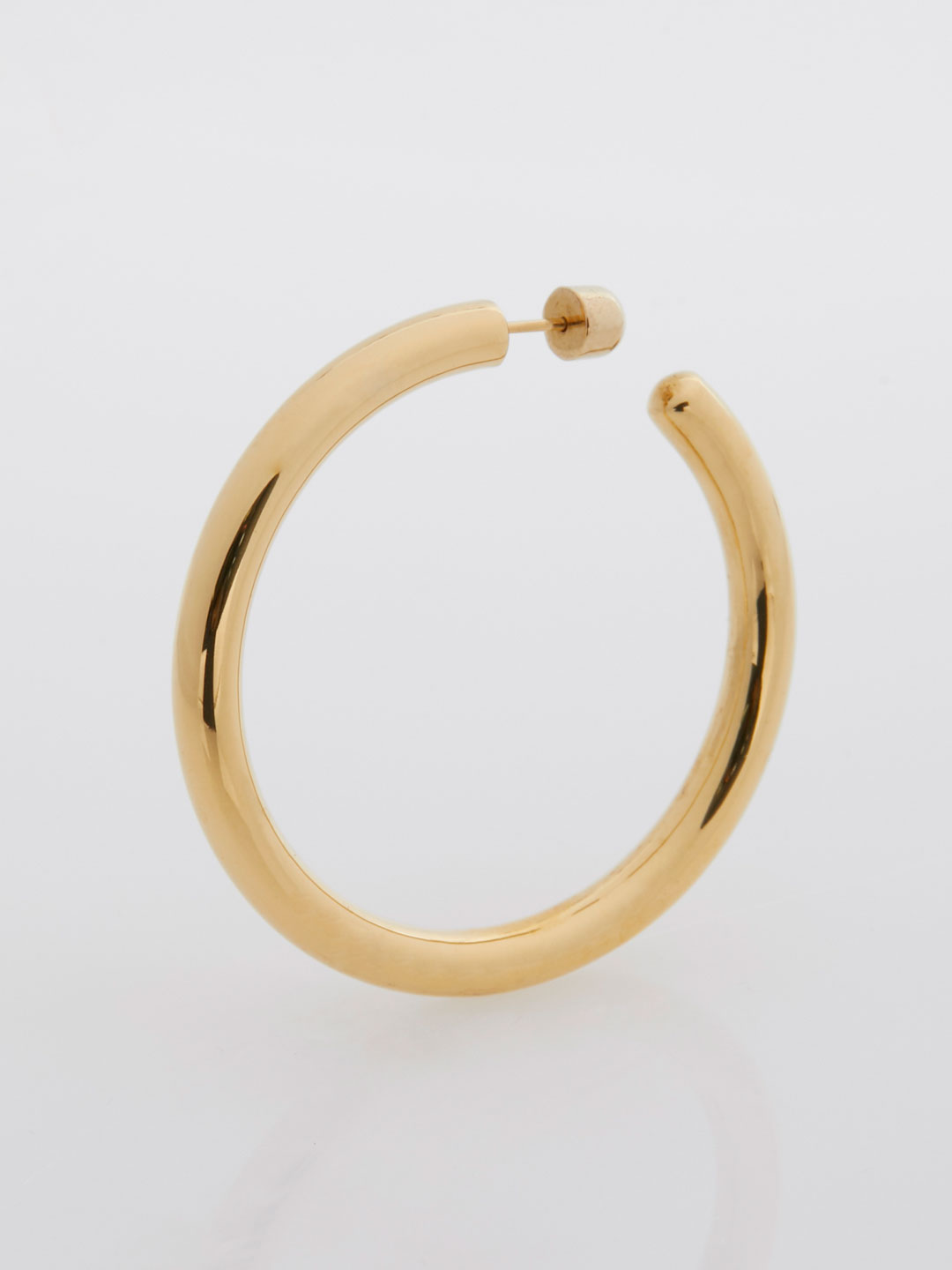 Ruby 50 Hoop Pierced Earring  - Yellow Gold