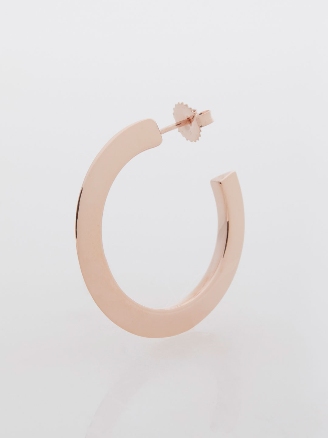 Else Hoop Medium Pierced Earring  - Rose Gold