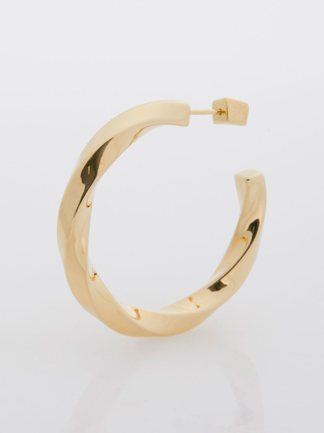 Martinus Hoop Pierced Earring  - Yellow Gold