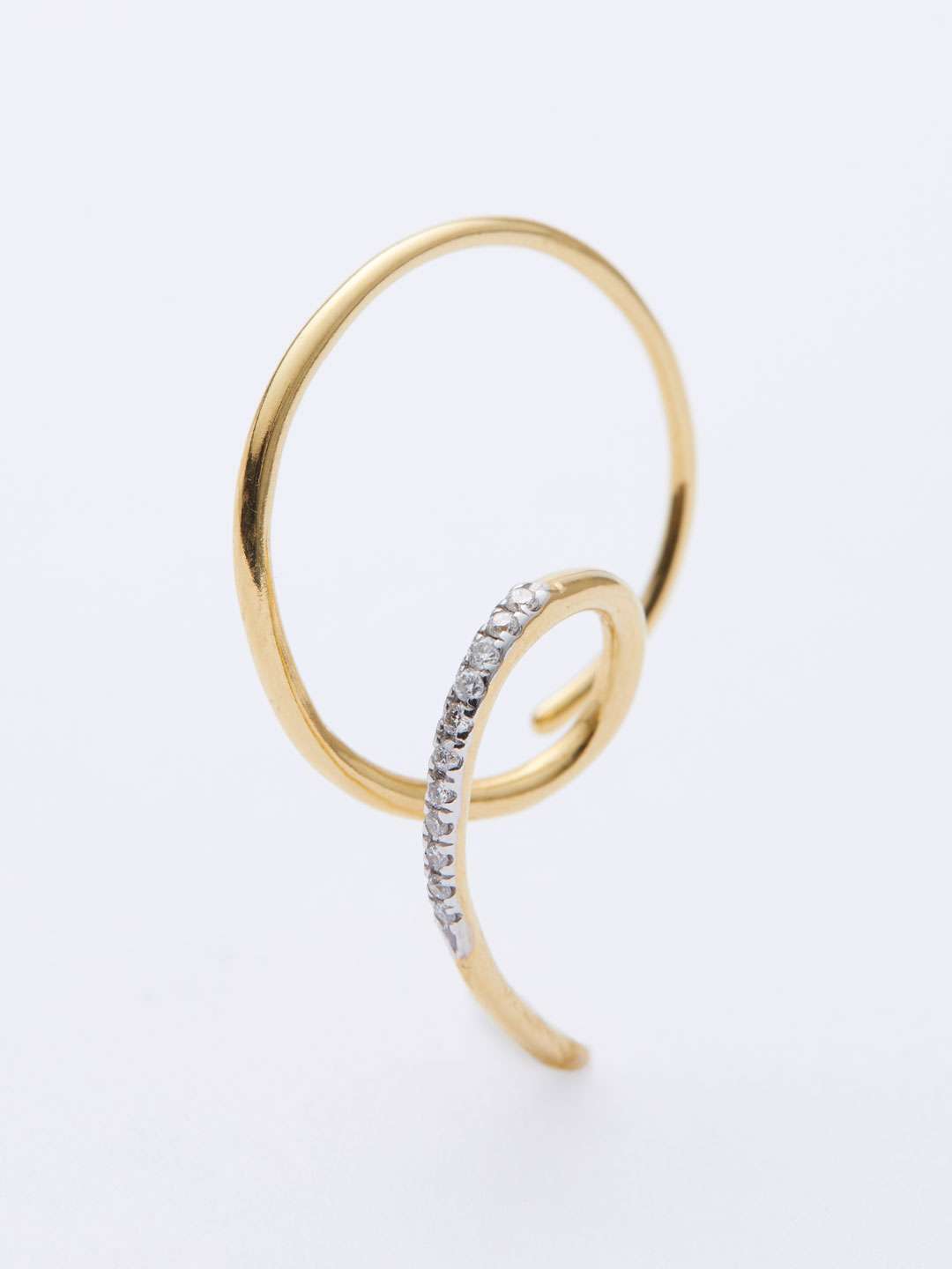The Race Dia Pierced Earring  - Yellow Gold