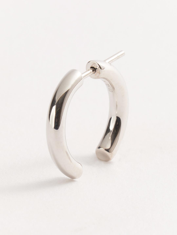 Broken 18 Pierced Earring - Silver