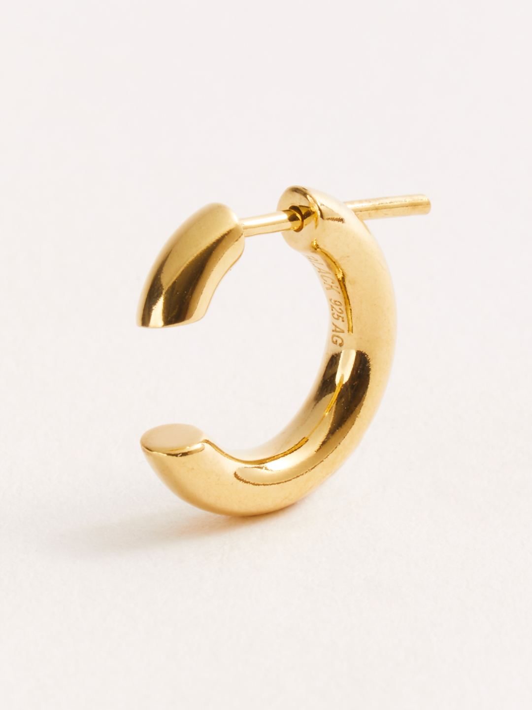 Disrupted 14 Pierced Earring - Gold High Polish