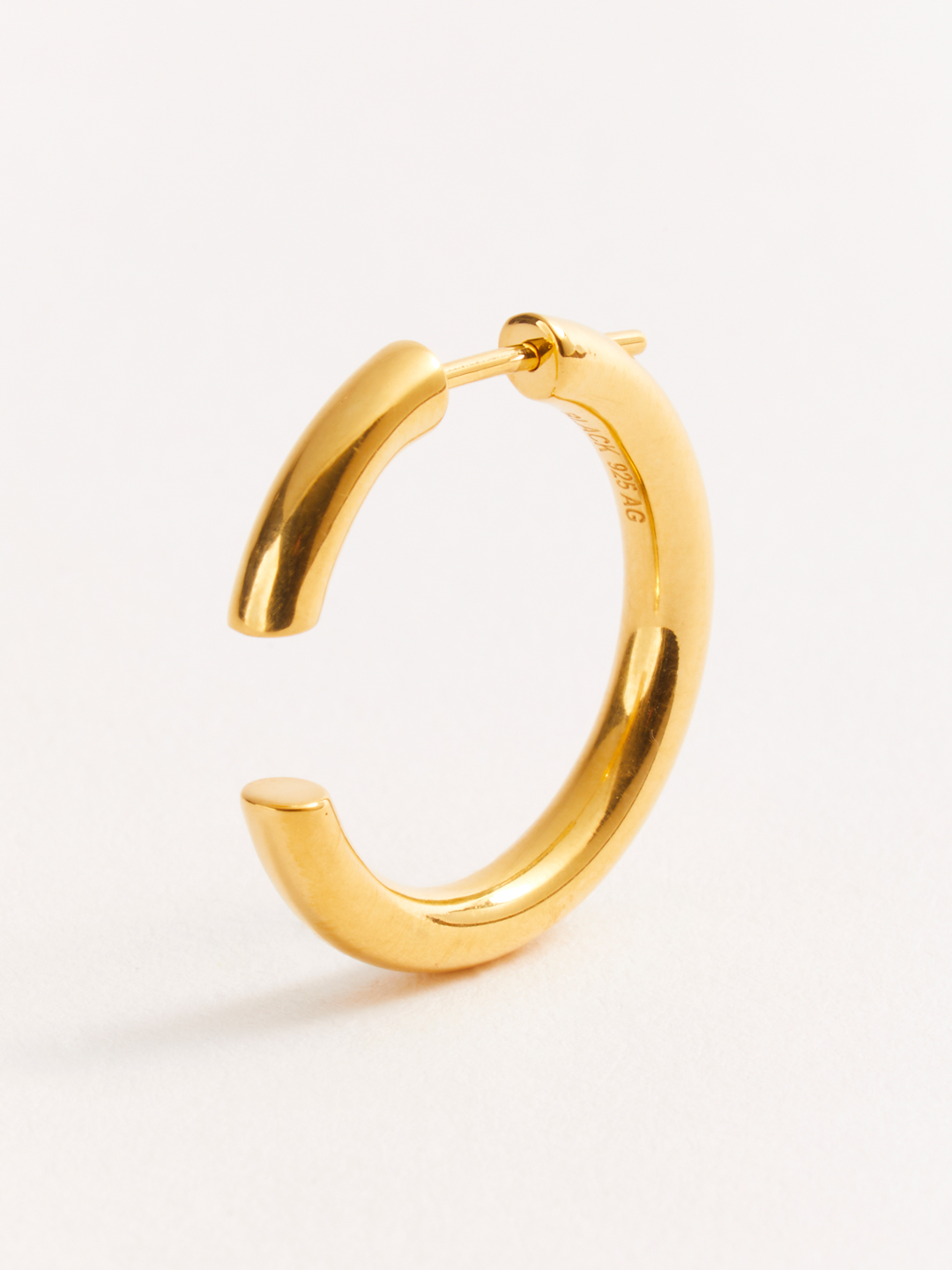 Disrupted 22 Pierced Earring - Gold High Polish