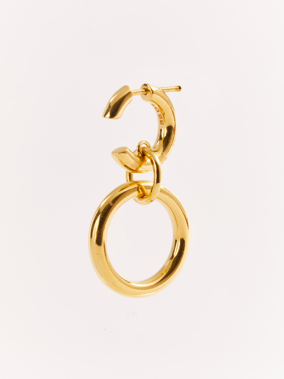 Dogma Pierced Earring - Gold High Polish