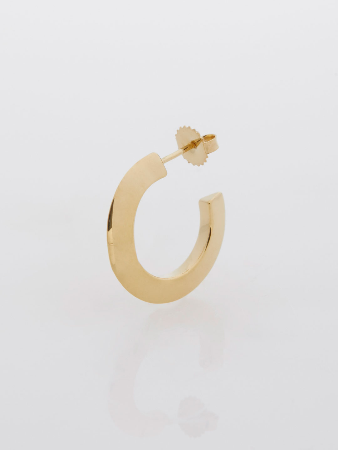 Else Hoop Small Pierced Earring  - Yellow Gold