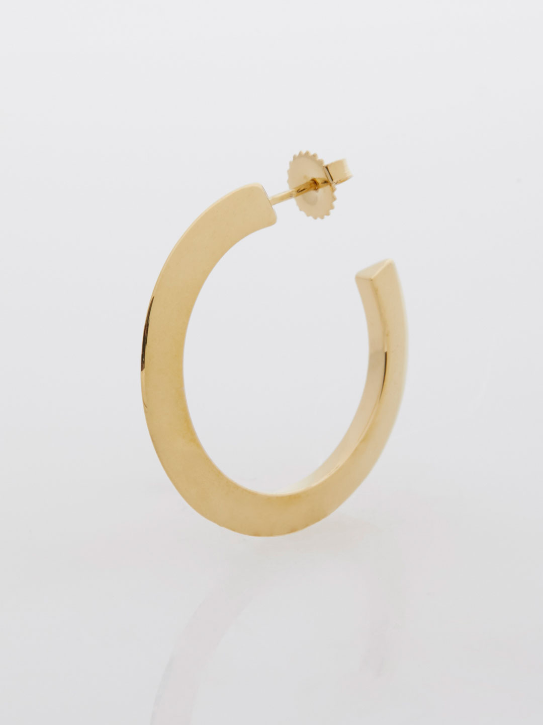 Else Hoop Medium Pierced Earring  - Yellow Gold