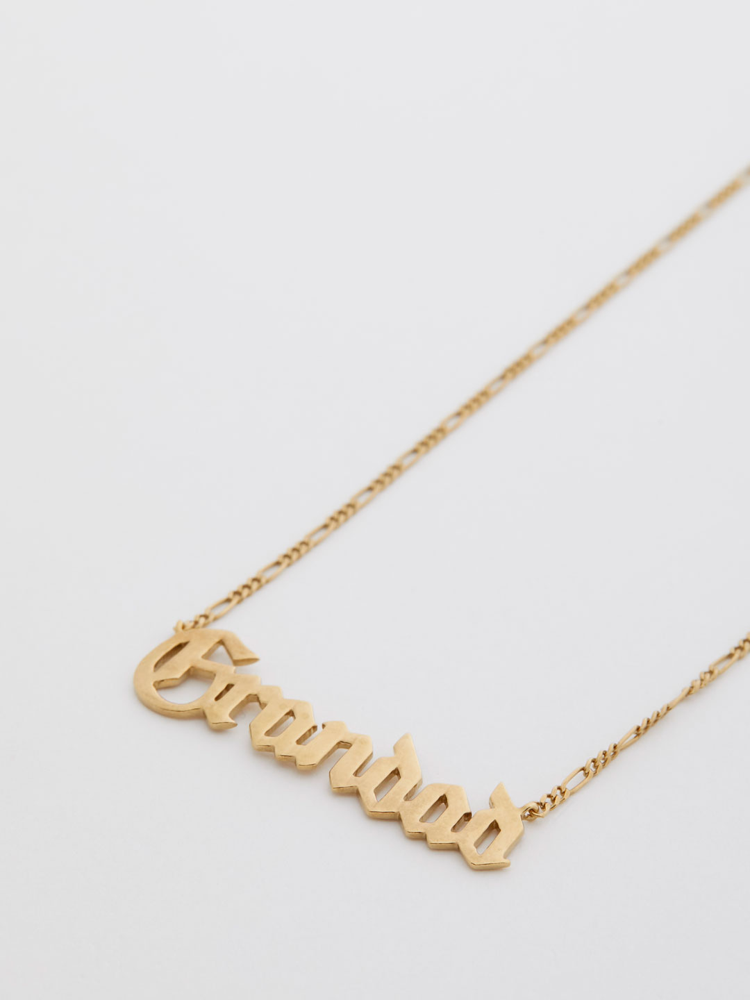 Grandad Necklace  - Yellow Gold