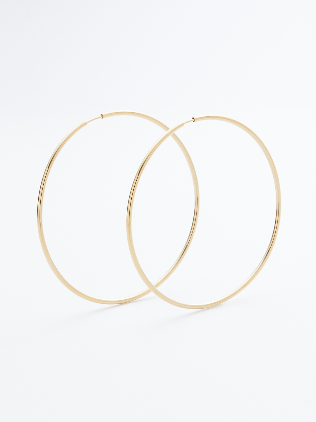 Senorita 70 Hoop Pierced - PAIR - Gold High Polish