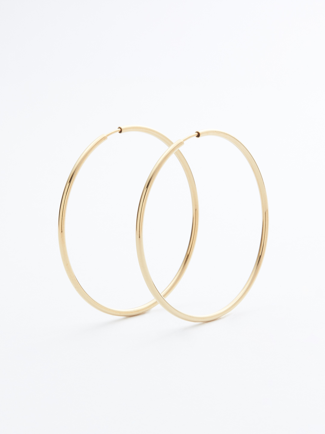 Senorita 50 Hoop Pierced - PAIR - Gold High Polish