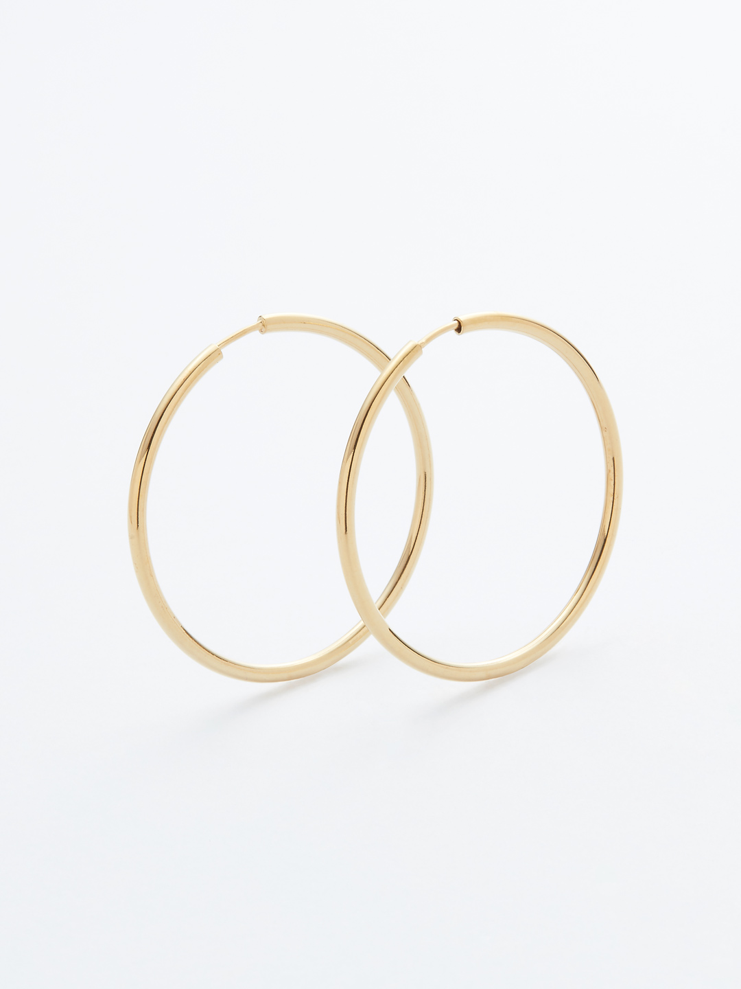Senorita 35 Hoop Pierced - PAIR - Gold High Polish