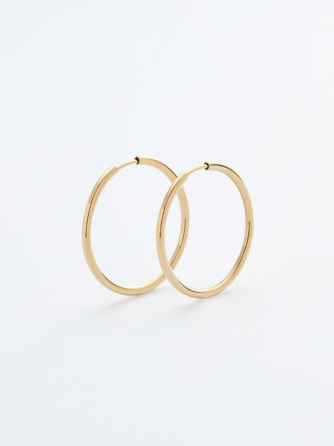 Senorita 25 Hoop Pierced - PAIR - Gold High Polish