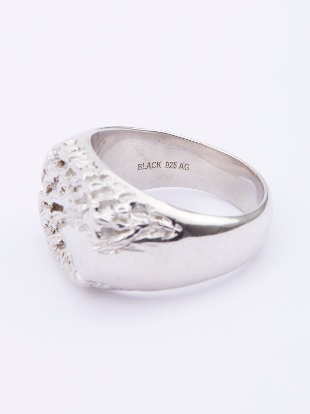 Rock Signet Ring  - Silver