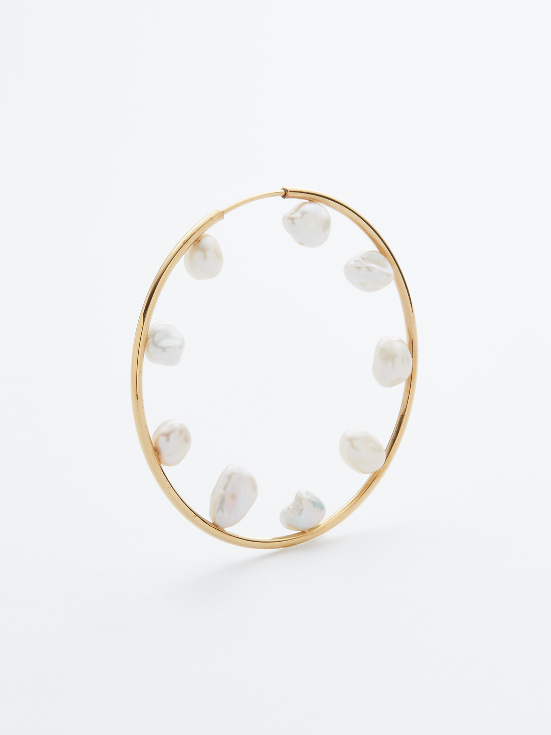 Secret Garden 50 Hoop Pierced Earring - Gold High Polish