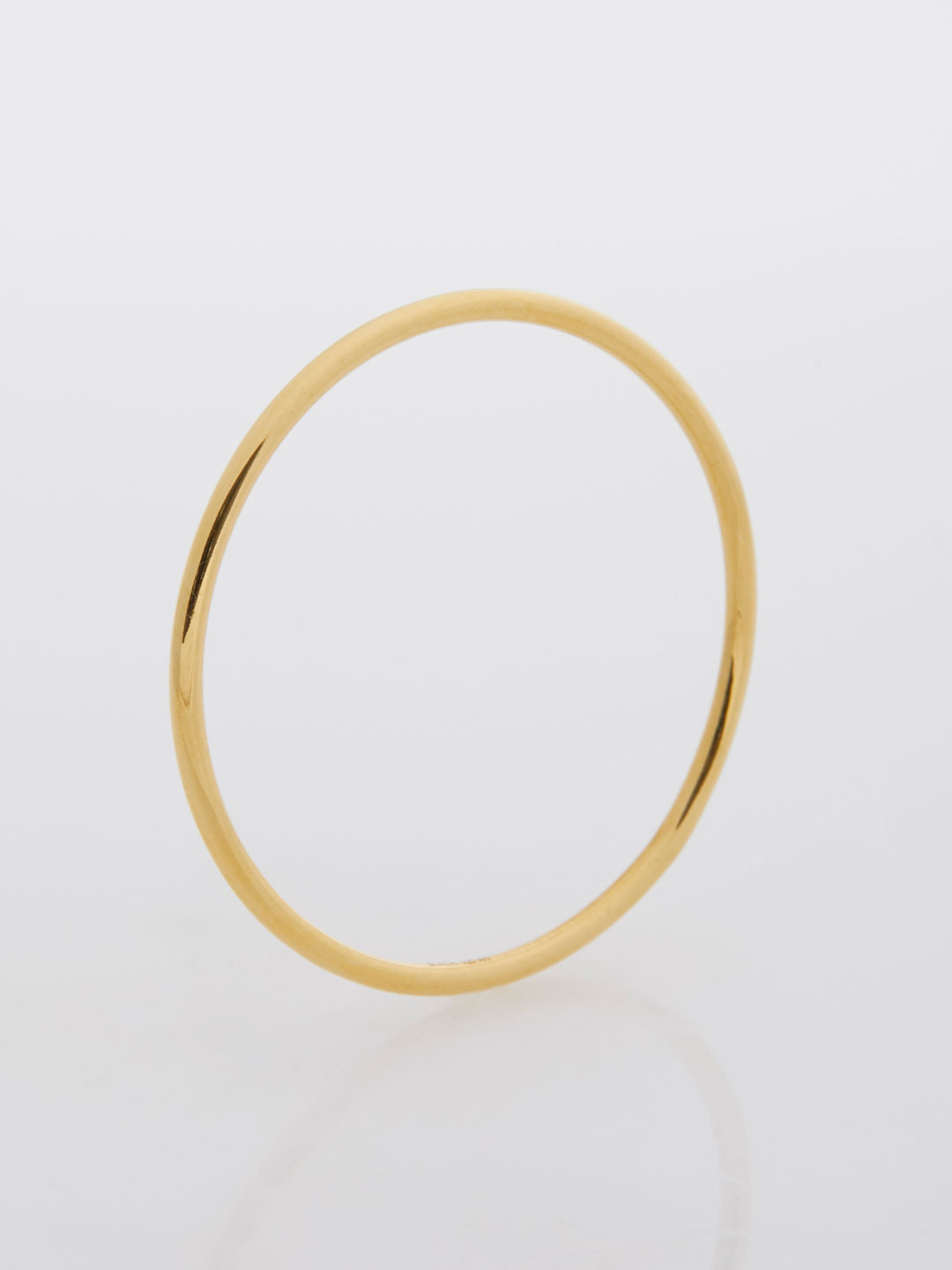 Circle Rock Charm  - Yellow Gold