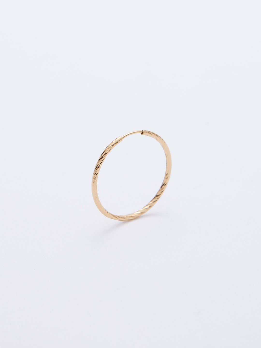 Liv Hoop Pierced Earring20 - Yellow Gold