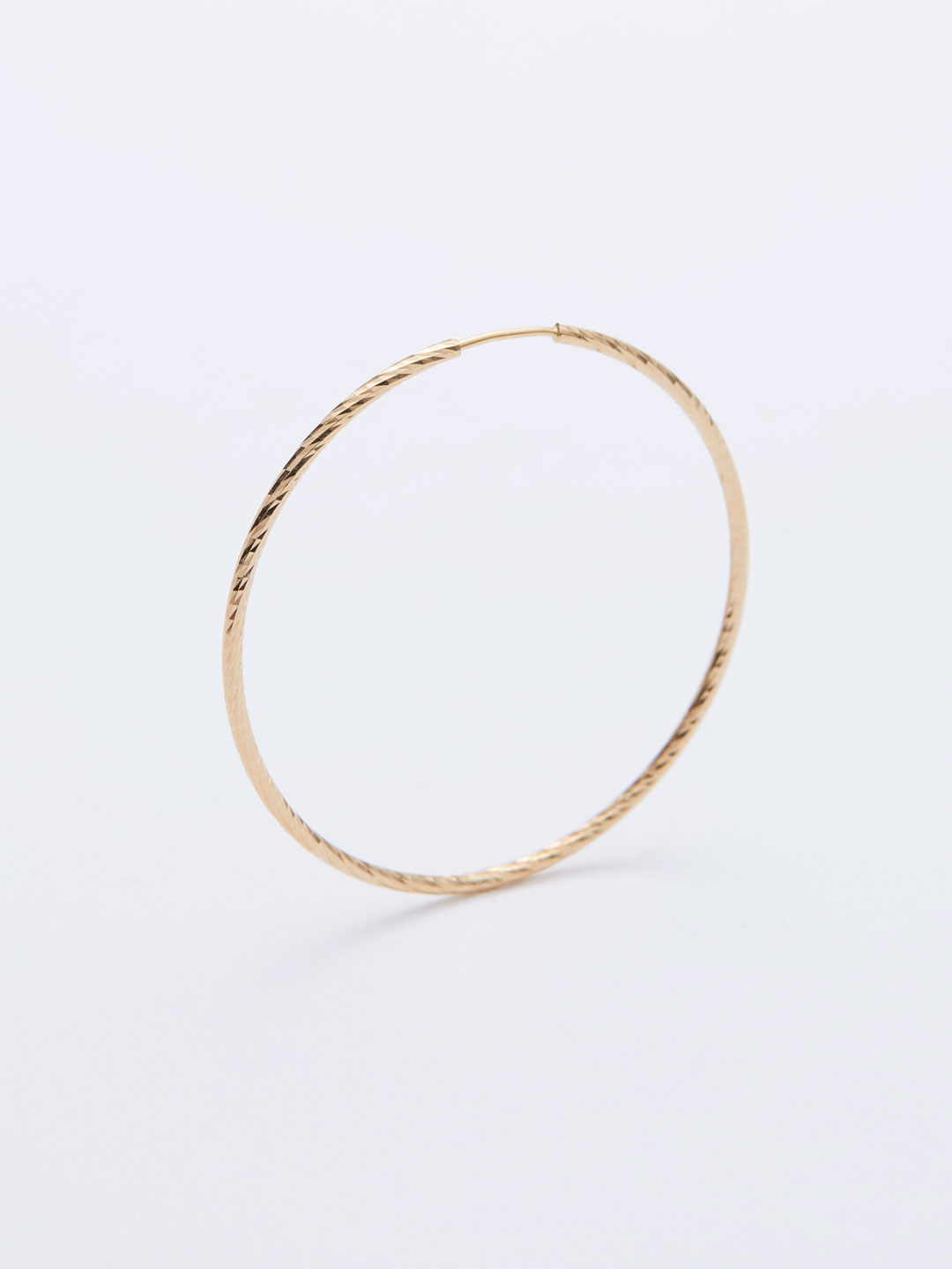Liv Hoop Pierced Earring35 - Yellow Gold