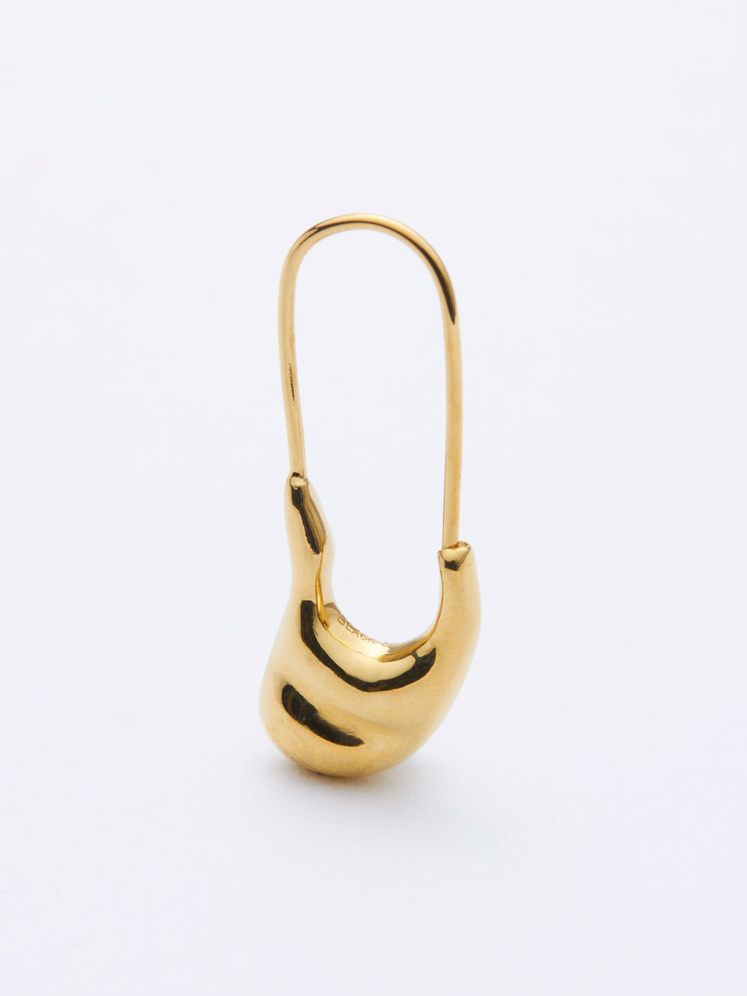 Pebble Mini Pierced Earring - Yellow Gold