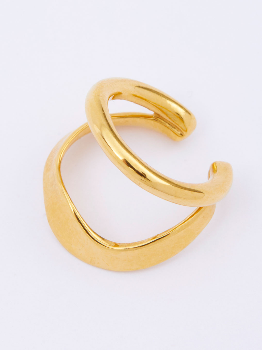 Ripples Ear Cuff  - Yellow Gold