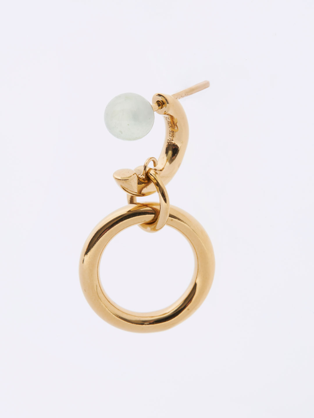 Anita Pierced Earring - Light Green