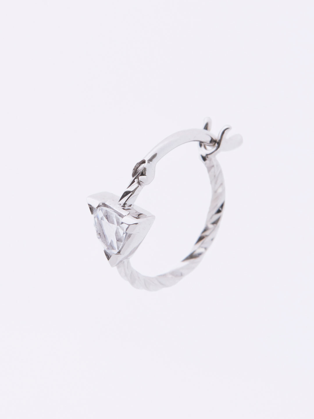 Viper  Pierced Earring - White Gold