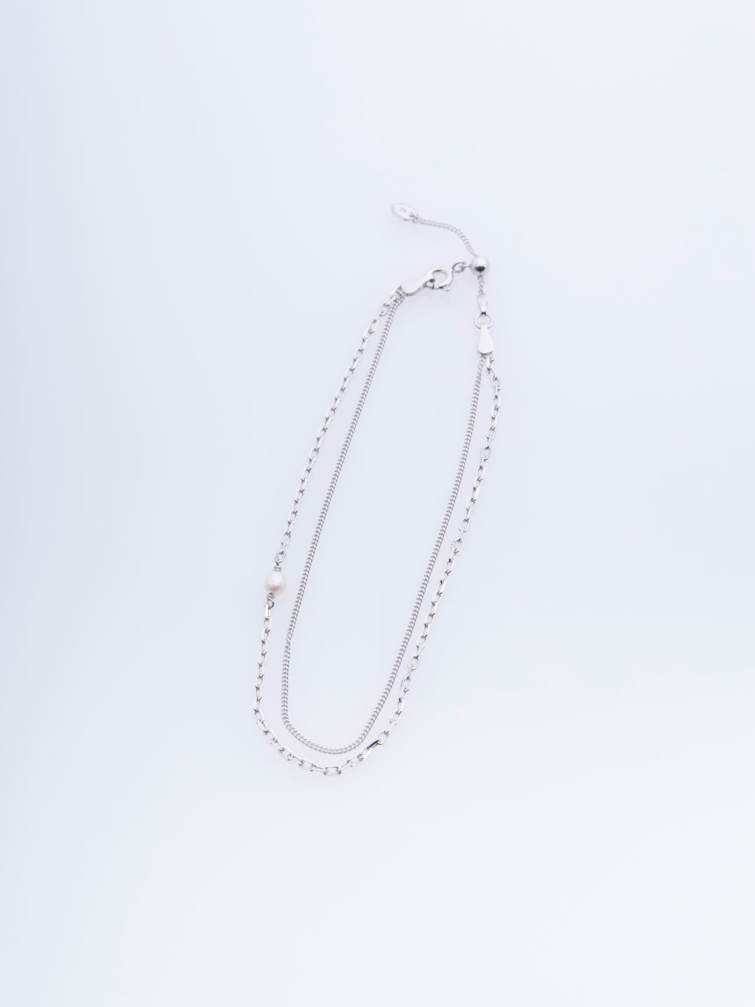 Cantare Anklet - Silver