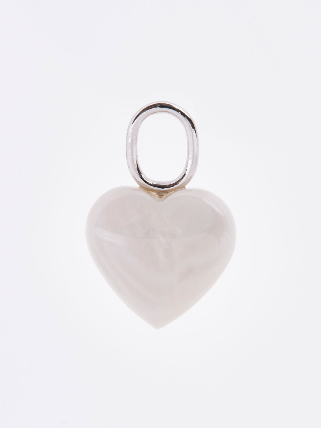 Mother Heart Charm - Silver