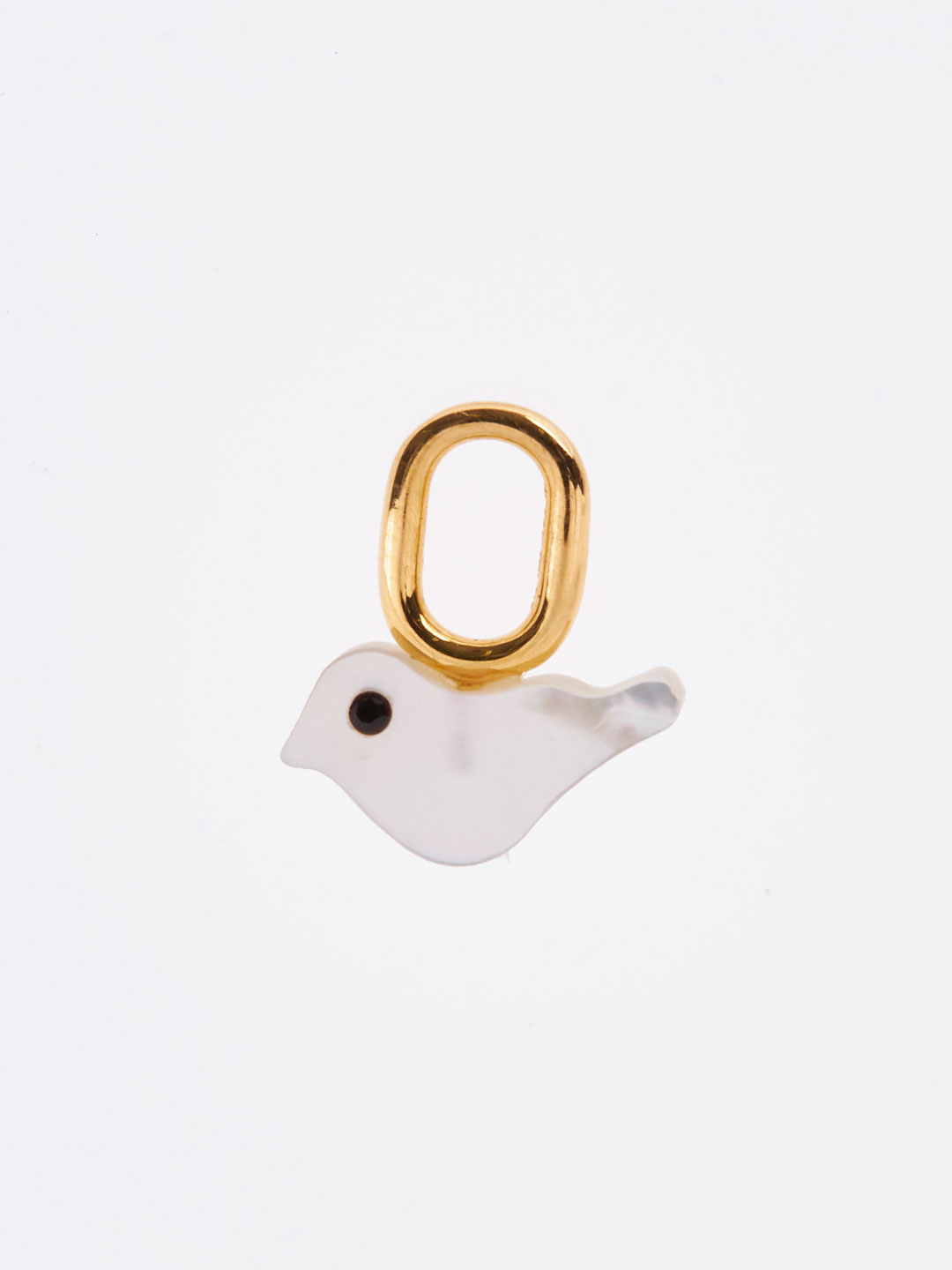 Tweet Charm - Yellow Gold