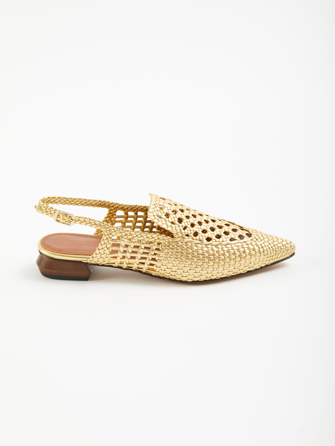 Gloria Sling-Back Sandals - Gold