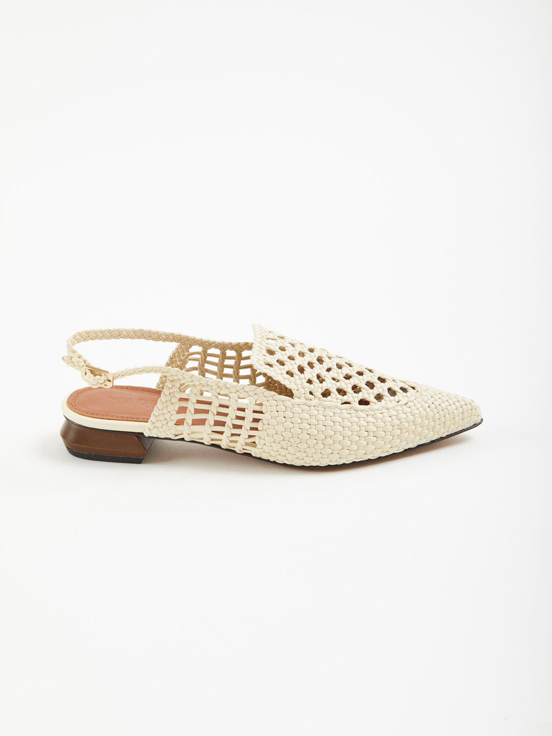 Gloria Sling-Back Sandals - Offwhite