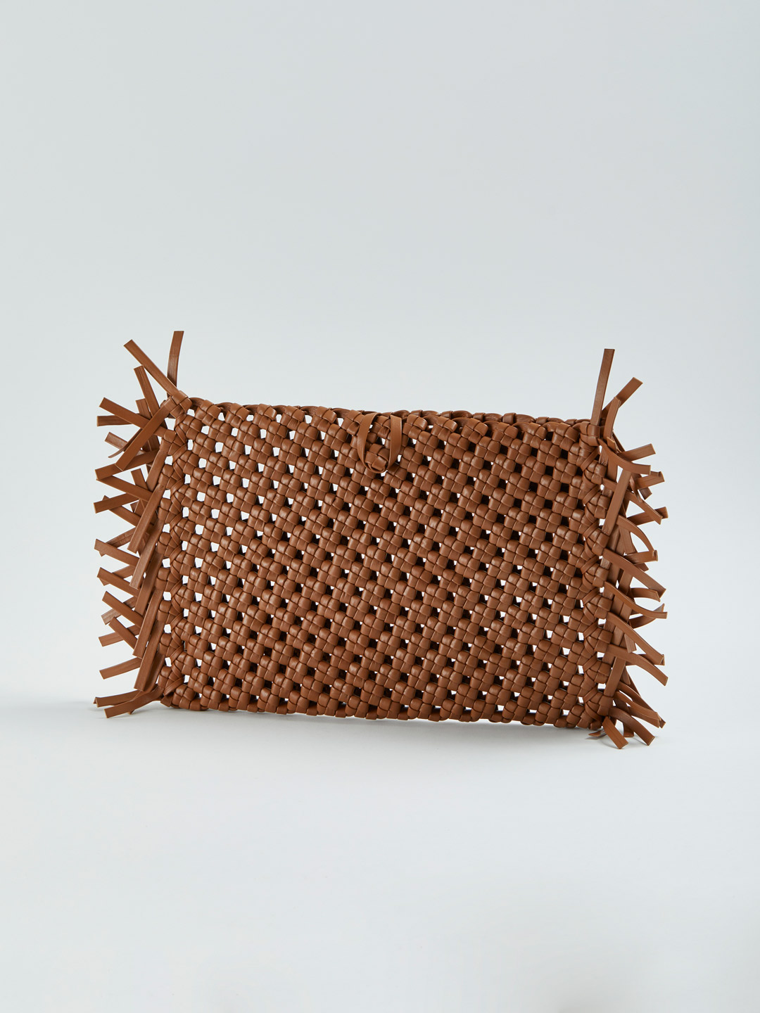 Nudo Lacy Fringe Clutch Bag - Brown