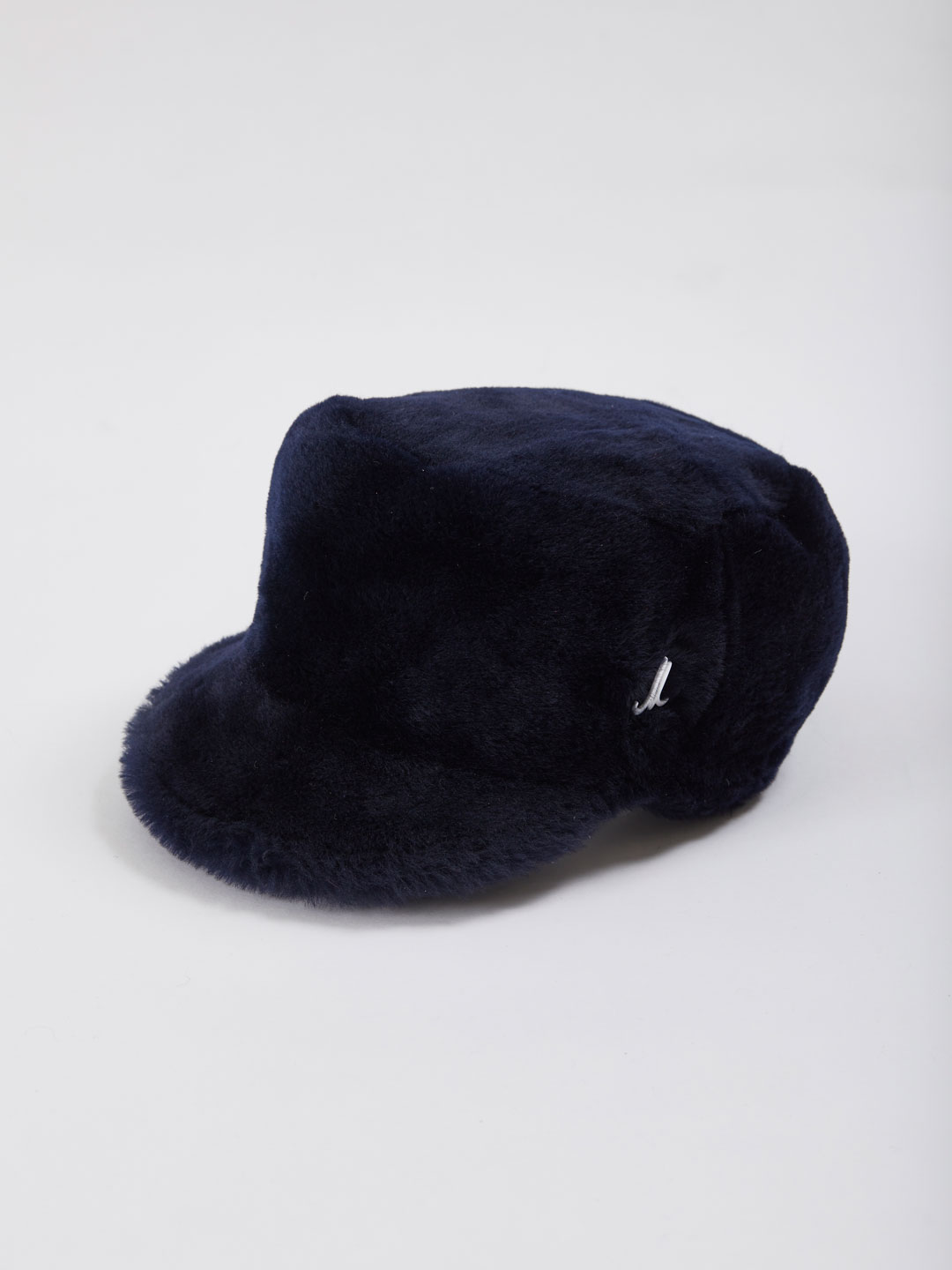 Ronan Fur Hat - Navy