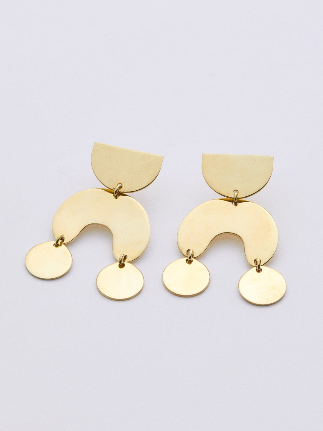 Teeny Tiny Moondancer Pierced Earring - Brass
