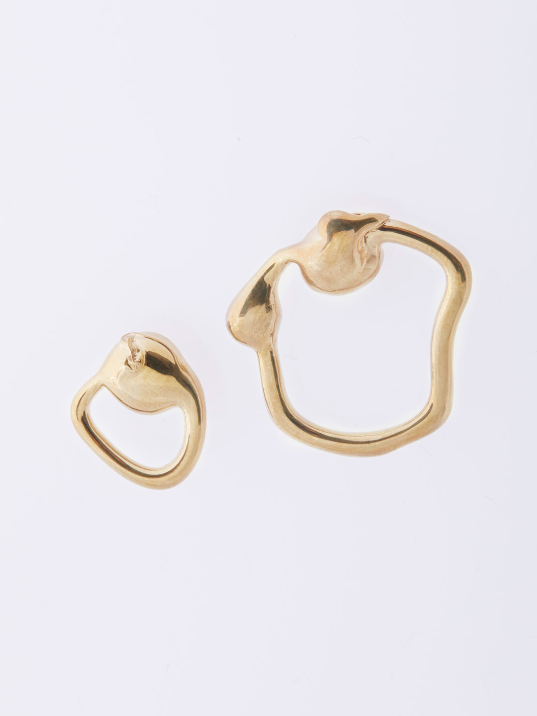 Petite Extrusion Studs Pierced Earrings - Gold