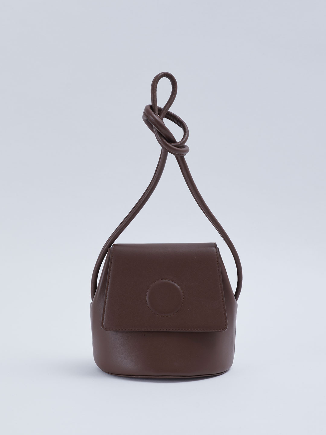 Petite Trapeze Bucket Bag - Dark Brown