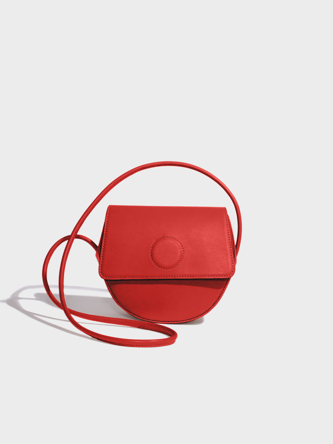 Trapeze Crossbody Bag - Red