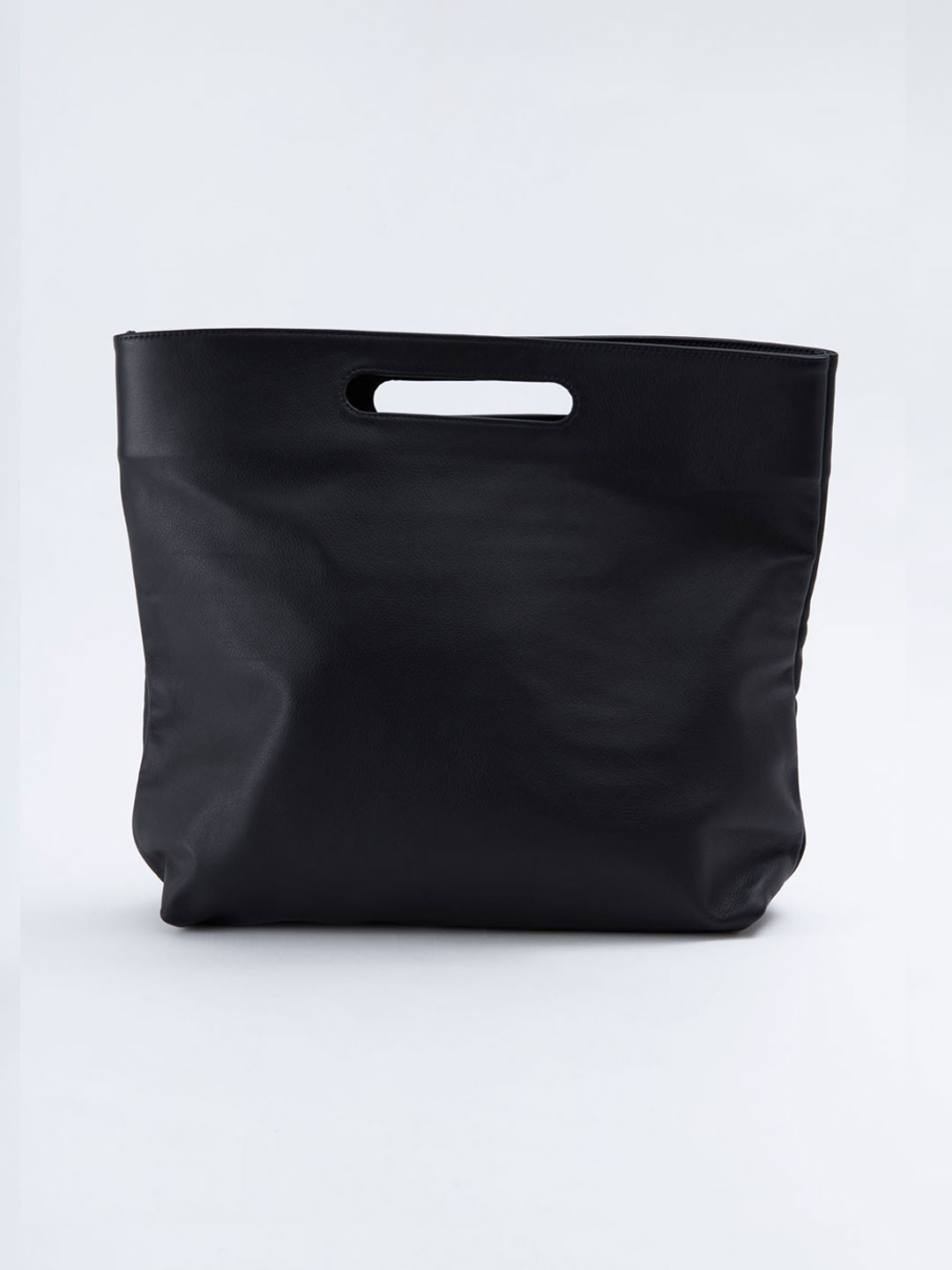Slouch Foldover Bag - Black