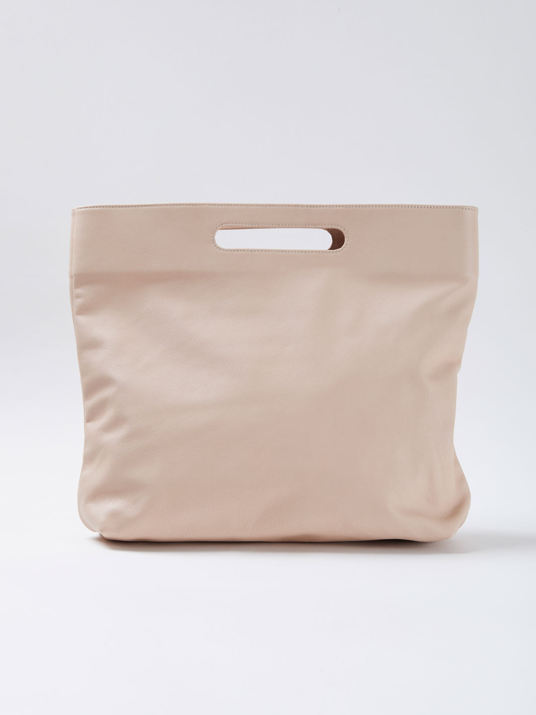 Slouch Foldover Bag - Light Beige