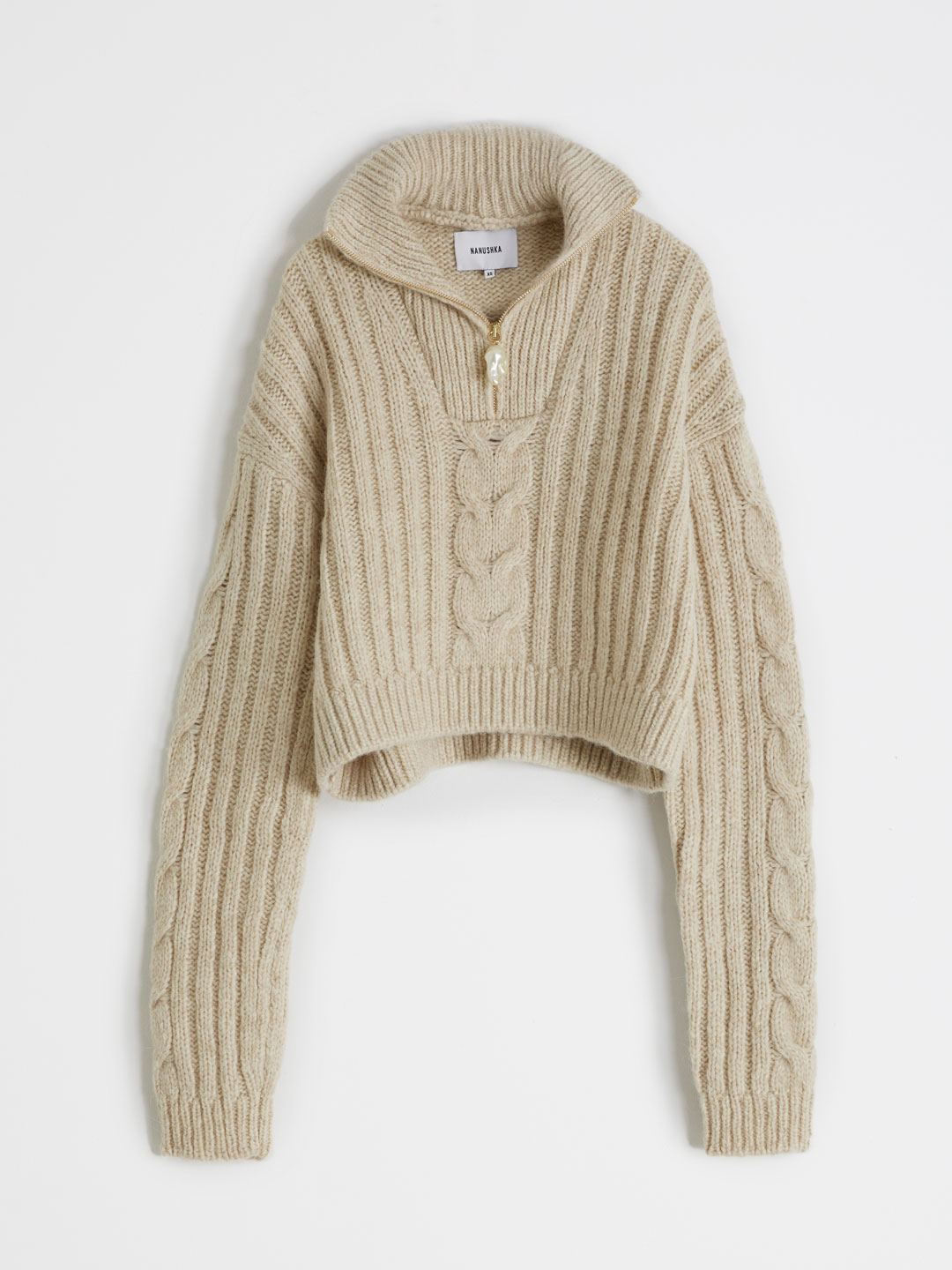 Eria Knitted Sweater - Beige