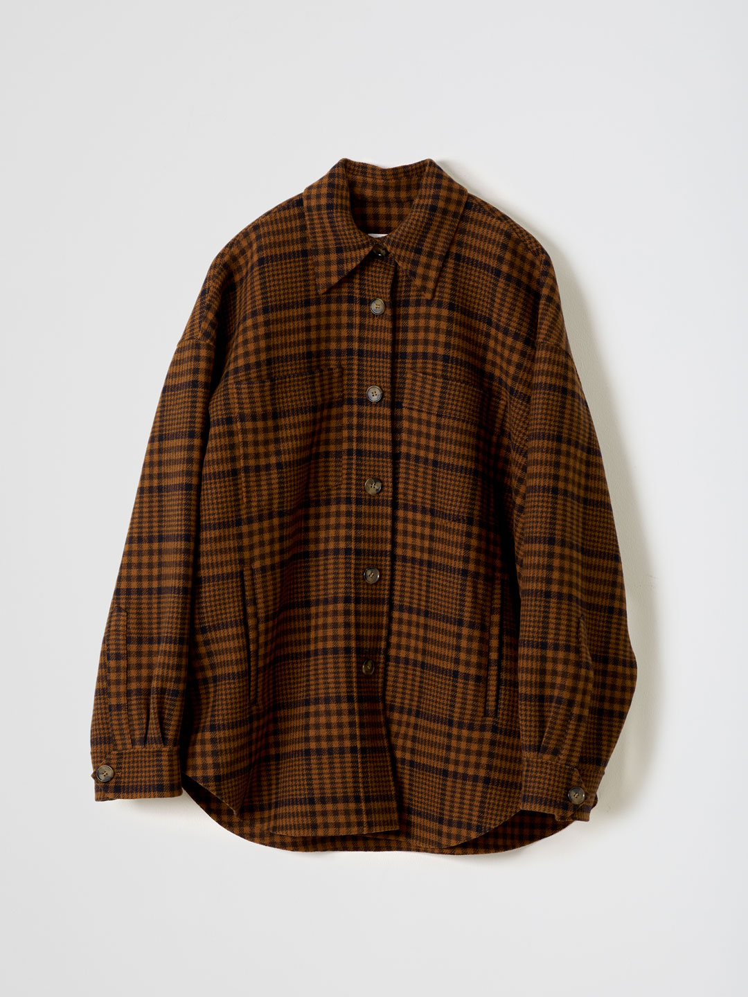Martin / Wool Nylon Check Overshirt Jacket - Brown