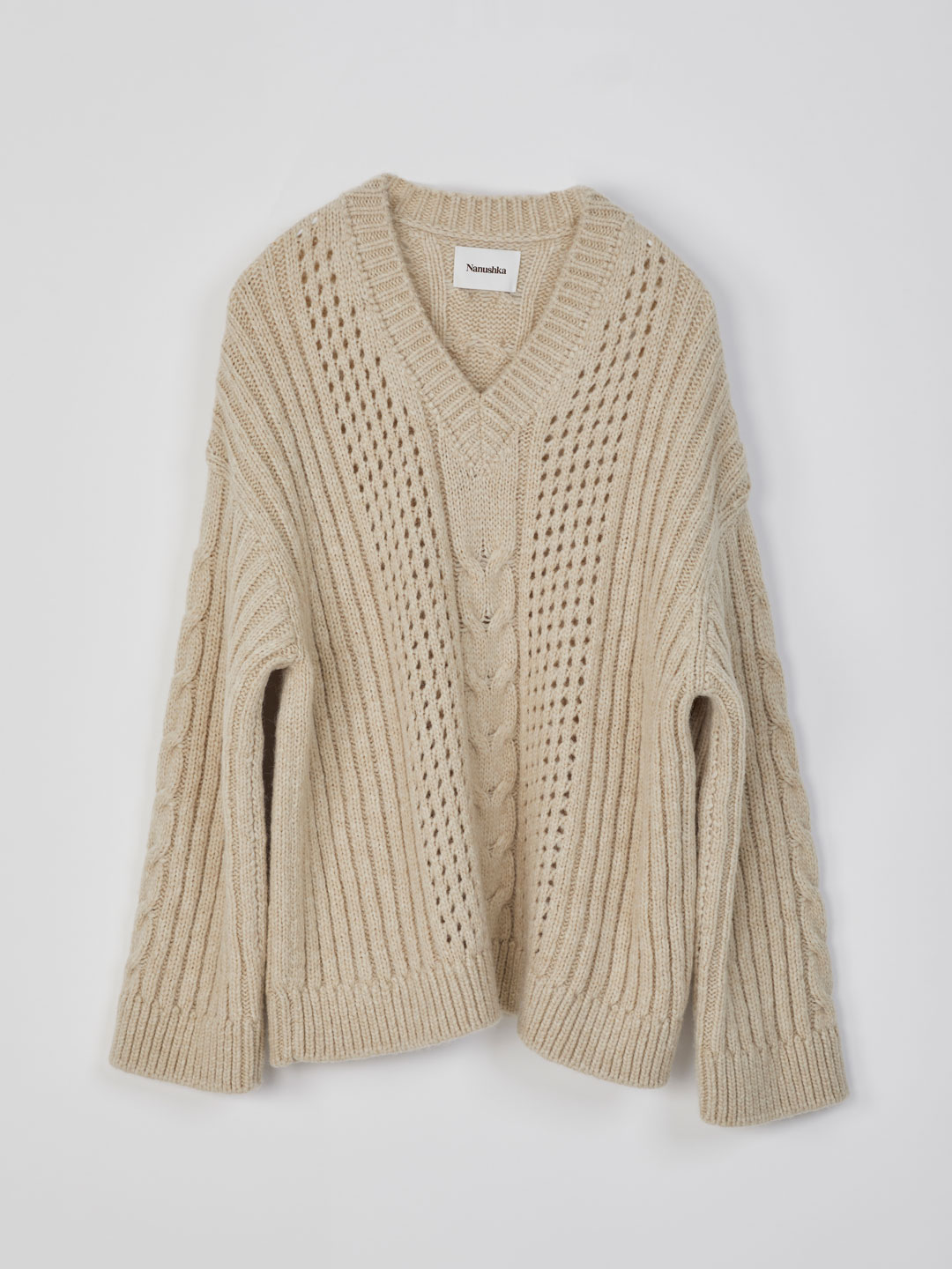 Arwan / Cable Knit Sweater - Cream