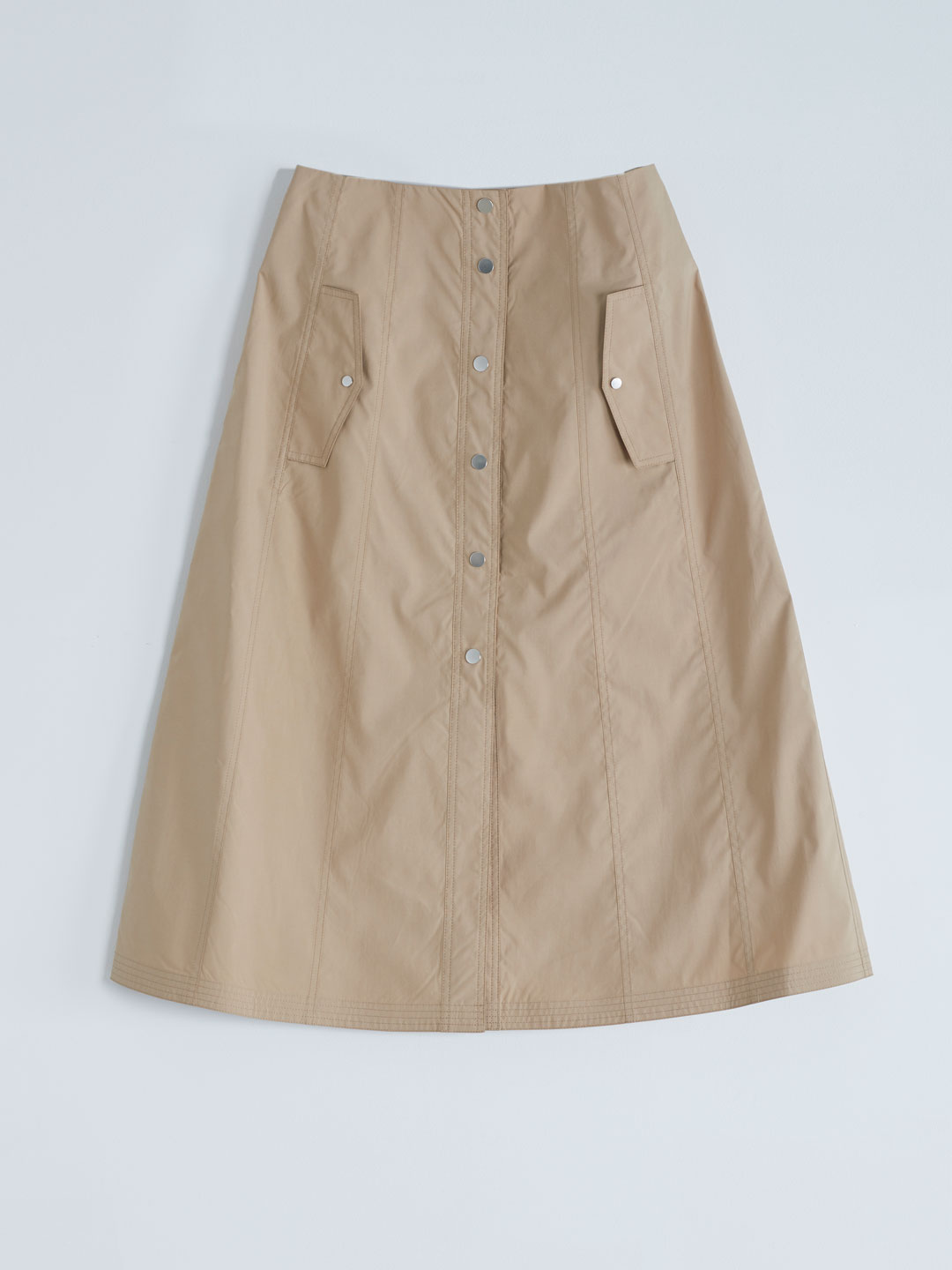 Tech Light Trench Skirt - Beige