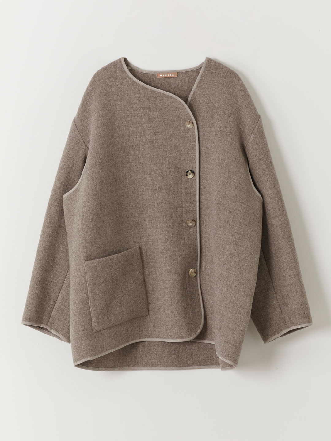 Triple Wool Fleece Jacket - Beige