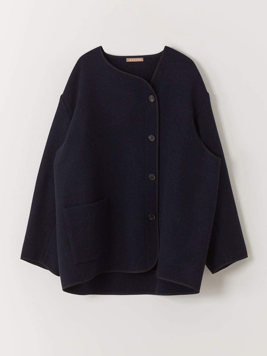 Triple Wool Fleece Jacket - Black