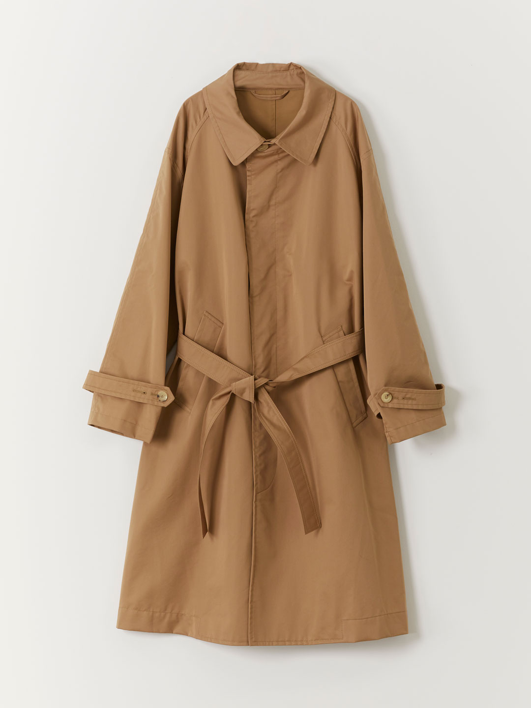 Cotton Blend Trench Coat - Beige