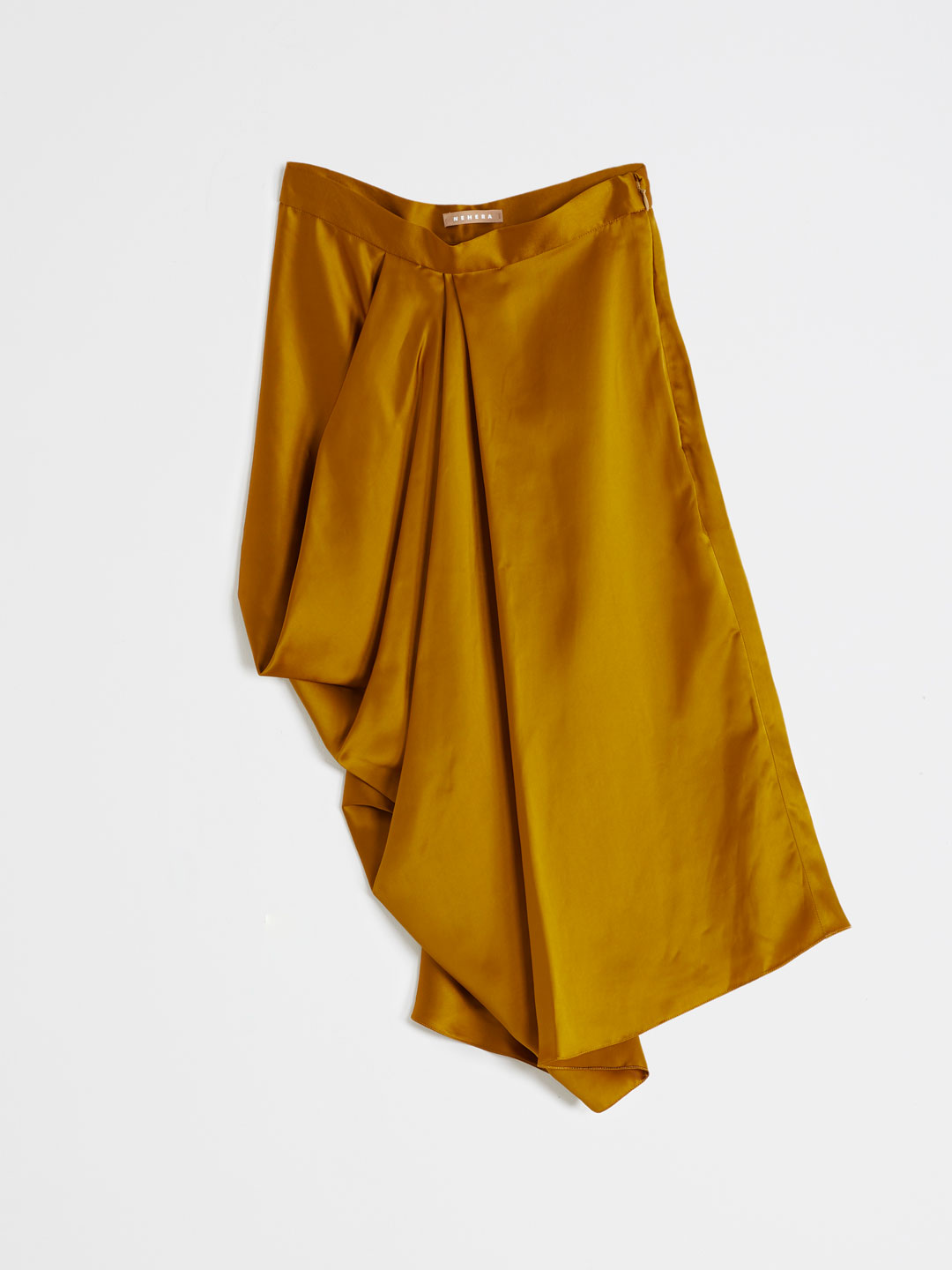 Viscose Satin Skirt - Yellow