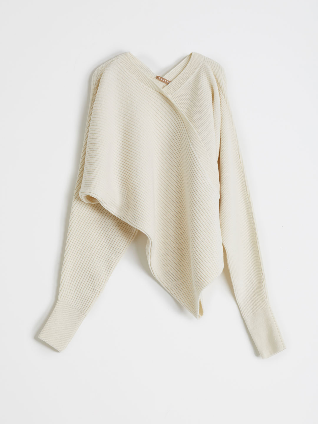 Chunky Soft Wool Knitted Top - Offwhite