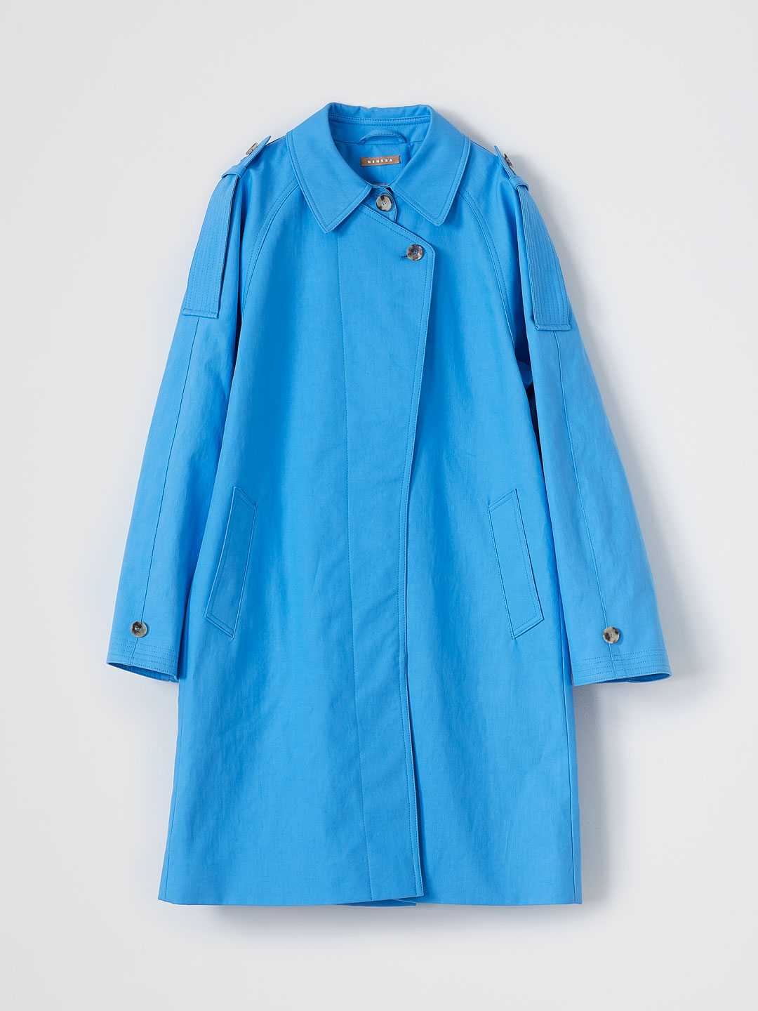 Classic Cotton Twill Coat - Blue