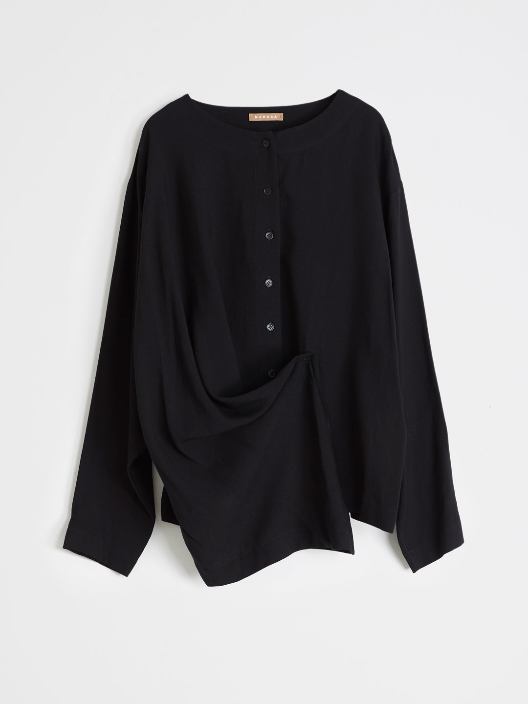 Viscose Wool Blend Shirts - Black
